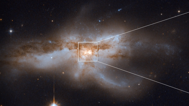 When black holes collide: NASA releases 'amazing' images of galaxies merging