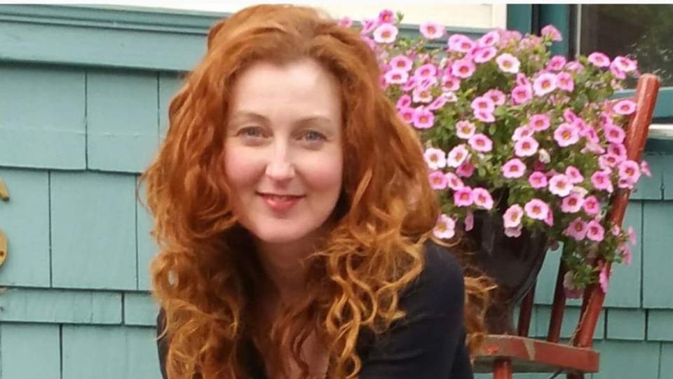Betina Roberts' natural long, curly red hair, before chemotherapy. (Roberts)