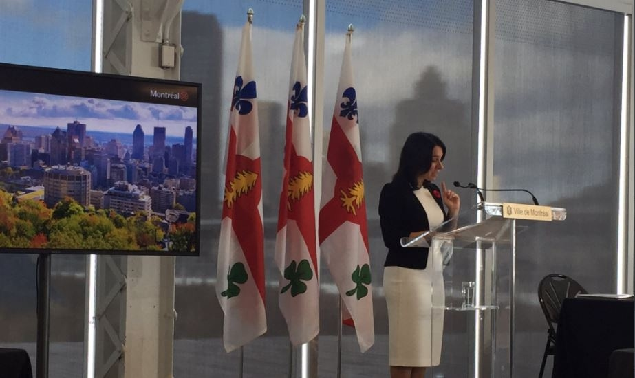 "The entirety of Montreal's 2019 budget aims to ""reflect the spirit of our administration and place the economy and the environment at the very heart of its considerations,"" Mayor Valerie Plante said. (Cindy Sherwin/CTV Montreal)"