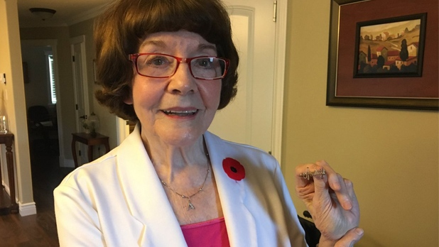 "A Canadian soldier named ""Johnny"" gave Audrey Greenhalgh during World War 2 while he was stationed in Glace Bay before shipping out to serve. She is looking for descendants of the soldier who she only knew as ""Johnny"" and was from ""out West."""
