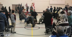 National Aboriginal Veterans Day ceremony on Atikameksheng Anishnawbek First Nation.
