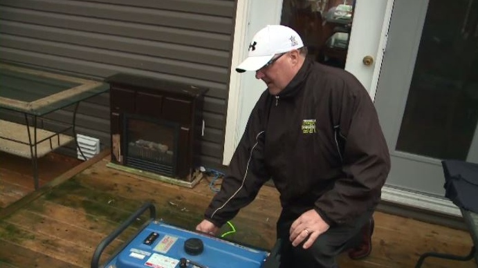 Some New Brunswick residents have had to rely on generators for their power supply.