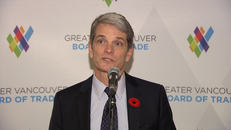 TransLink CEO Kevin Desmond speaks at the Greater Vancouver Board of Trade.