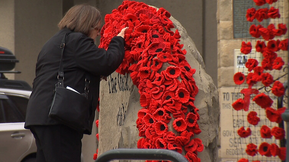 A downtown church in Calgary has chosen to showcase poppies in a unique way ahead of Remembrance Day.