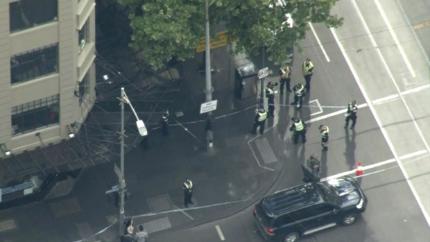 Police shoot and arrest knife-wielding man in Bourke Street, Melbourne