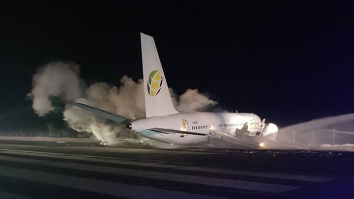 Fly Jamaica said Flight OJ256 left Georgetown, Guyana just after 2 a.m. Friday morning. (Cheddi Jagan International Airport / Facebook)