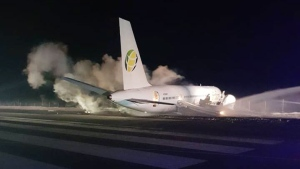 A Fly Jamaica Boeing 757-200 flight has crash-land