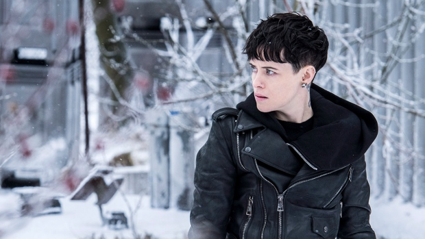 Claire Foy in a scene from 'The Girl in the Spider's Web.' (Reiner Bajo / Sony Pictures via AP)