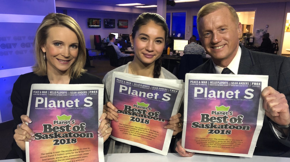 Chantel Saunders, Angelina King and Jeff Rogstad all won their categories in the Planet S Best of Saskatoon awards.
