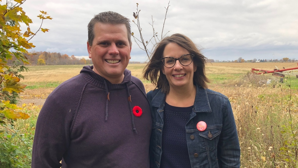 Chris and Rachel Renwick are part of the documentary Real Farm Lives, Nov.9, 2018. (Melanie Borrelli / CTV Windsor)