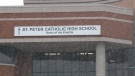 A 15-year-old boy was sent to hospital after an attack near St. Peter Catholic High School. (CTV Ottawa)