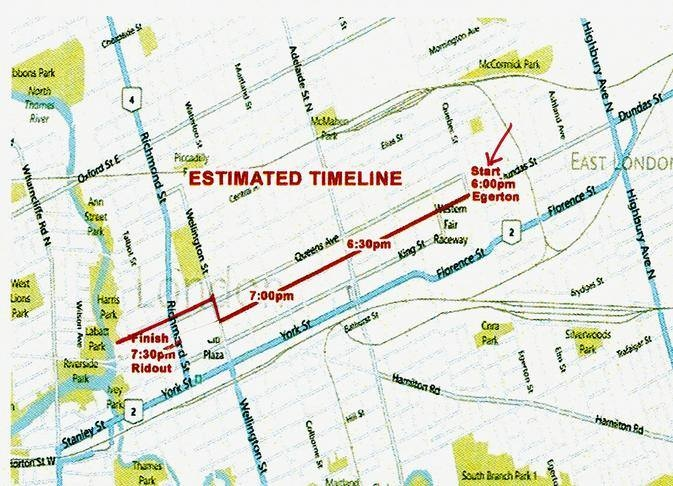 The Santa Claus Parade route through London, Ont. will be slightly different in 2018. (London Police Service / Facebook)