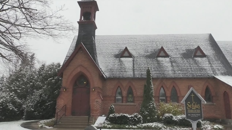 St. Lukes Anglican Church in Creemore, Ont., on Friday, November 9, 2018 (CTV News/Mike Walker)