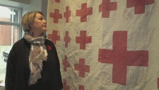 CTV Northern Ontario's Matt Ingram looks at a special WWI name quilt displayed at a Sudbury business and a book written by local authors.
