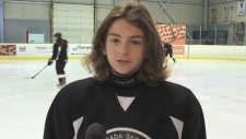 A 14-year-old boy, Jared Coccimiglio, from Toronto moves to Sault Ste. Marie's hockey academy for elite athletes in high school. Lincoln Louttit reports.