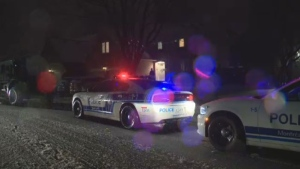 The suspect barricaded himself inside a home on Montrose Drive shortly after the shooting, according to police. (CTV Montreal)