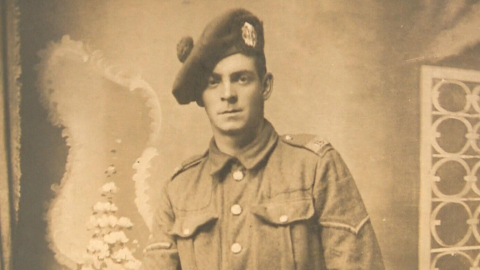 Peter Goldie, a piper with the Royal Scots 16th Battalion, who fought at the Battle of the Somme in the First World War.