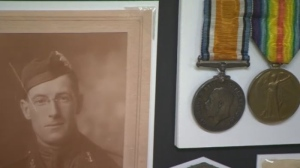 This year, marking one hundred years since the end of the war, Cahill's items at the are infused with extra significance. (CTV Montreal)