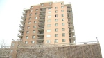 A body was discovered inside a burned-out apartment unit at a building in the southern part of Lethbridge early Saturday morning.