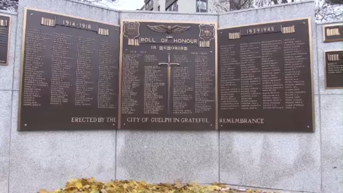 43 names were added to Guelph's cenotaph on Nov. 10, 2018.