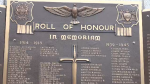 The Roll of Honour at the Guelph cenotaph. (Nov. 10, 2018)