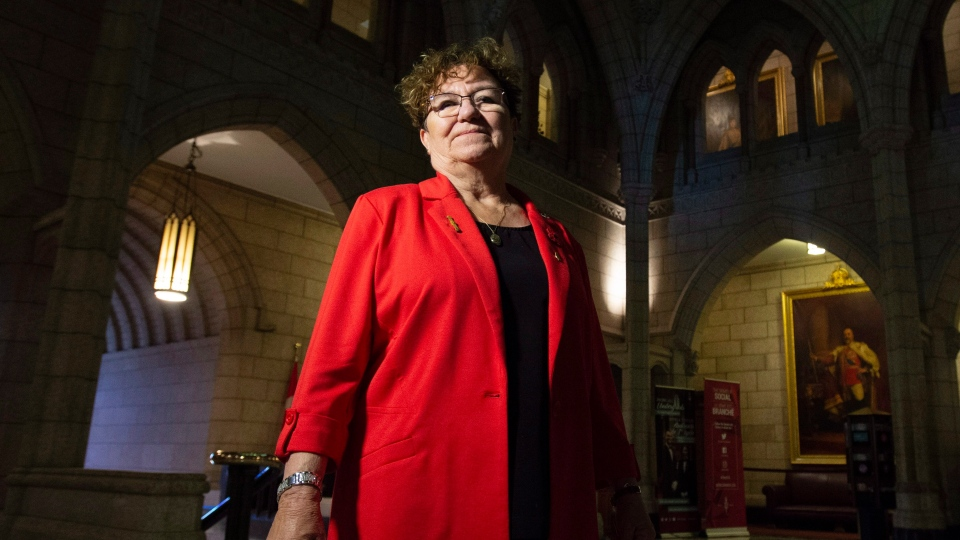 Senator Yvonne Boyer poses for a photo in the foyer of the Senate on Parliament Hill in Ottawa, Tuesday October 23, 2018. THE CANADIAN PRESS/Adrian Wyld