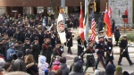 Remembrance Day parade in Kitchener