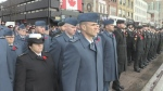 Remembrance Day service in Barrie, part one