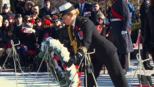 Governor General Payette lays wreath