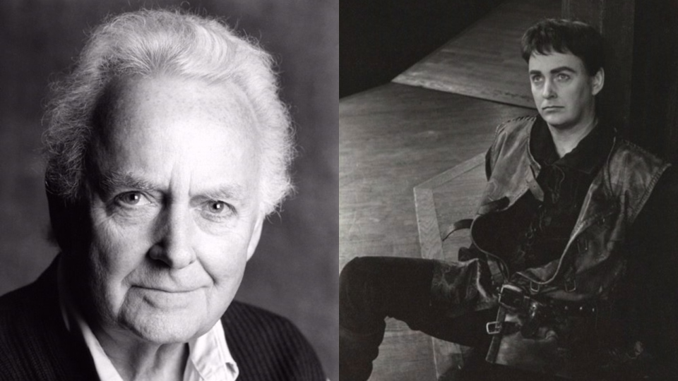 This composite image shows Douglas Rain in an undated handout photo by Terry Manzo (left), and as Henry V in the Stratford Festival in 1966 (Peter Smith / The Canadian Press).