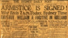 The Sydney Daily Post published on November 11, 1918 (Twitter/ Beaton Institute)
