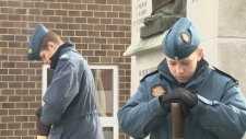 Remembrance Day ceremony in Aylmer