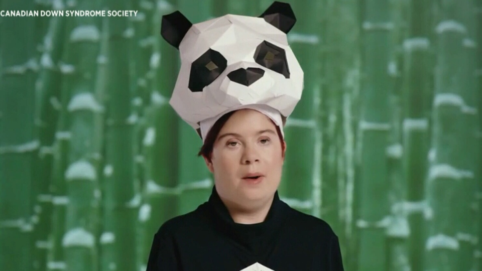Krystal appears in a campaign video for the Canadian Down Syndrome Society, which  is calling for people with Down syndrome to be put on the endangered species list.