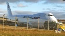 Crews dismantling cargo jet that overshot runway