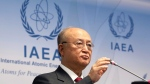 Director General of the International Atomic Energy Agency, IAEA, Yukiya Amano of Japan, addresses the media during a news conference after a meeting of the IAEA board of governors at the International Center in Vienna, Austria, Monday, March 5, 2018. (AP Photo/Ronald Zak)