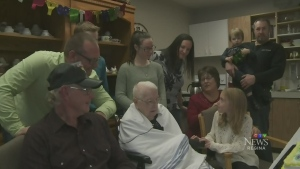 100th birthday celebrated on Remembrance Day