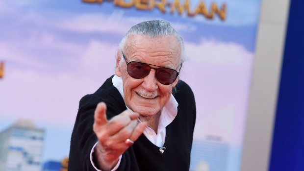 "Stan Lee arrives at the Los Angeles premiere of ""Spider-Man: Homecoming"" at the TCL Chinese Theatre on Wednesday, June 28, 2017. (Photo by Jordan Strauss/Invision/AP)"