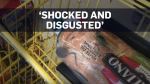 Mouse inside package of bread at grocery store