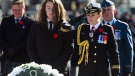 Governor General Julie Payette places a wreath with her son Laurier Payette-Flynn during Remembrance Day ceremonies at the National War Memorial in Ottawa on Sunday, Nov. 11, 2018. (THE CANADIAN PRESS/Sean Kilpatrick)