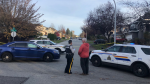 Police respond to an apparent drive-by shooting in Surrey's Guildford neighbourhood. Nov. 12, 2018.