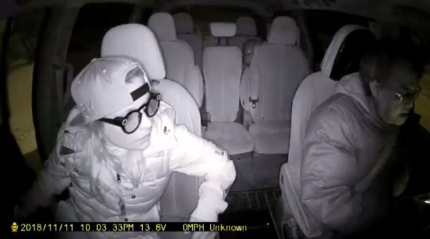 """Dash cam footage supplied by Comfort Cabs shows what the company calls the """"inappropriate behaviour"""" of the passenger. (Video courtesy Comfort Cabs)"""