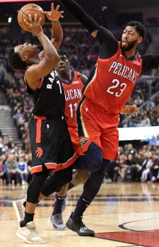 New Orleans Pelicans down Raptors, end Torontos perfect reco