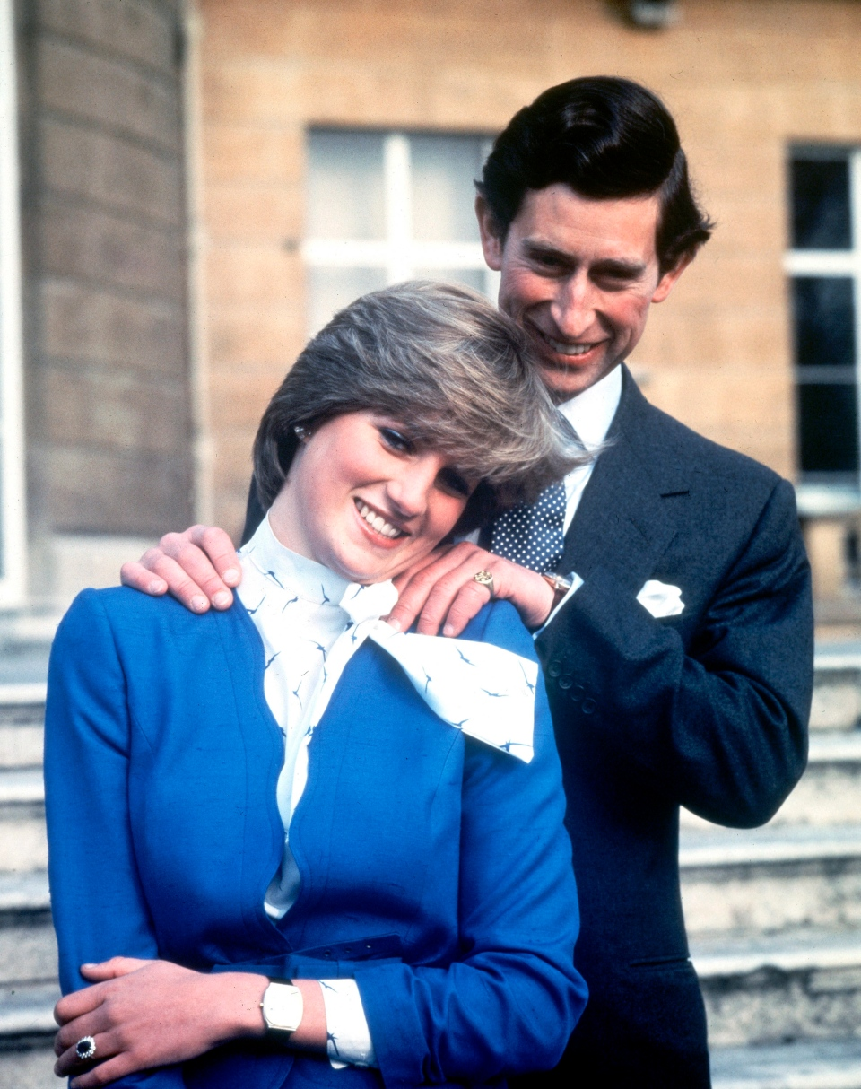 In this Feb. 24, 1981 file photo Britain's Prince Charles and Lady Diana Spencer pose following the announcement of their engagement. (AP Photo/Pool, File)