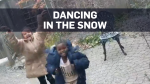 Refugee children see snow for the first time