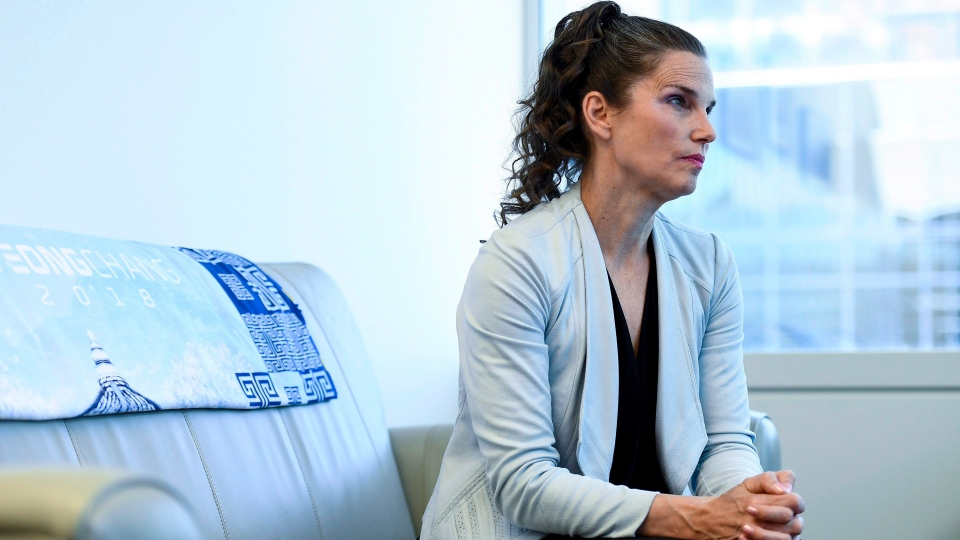 Minister of Science and Minister for Sport and Persons with Disabilities Kirsty Duncan is photographed in her office in Ottawa on Wednesday, July 11, 2018. (THE CANADIAN PRESS / Justin Tang)