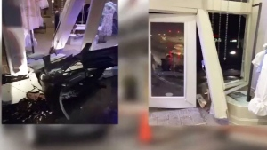 Pick up truck crashes into store
