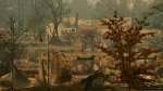 A fire truck drives through an area burned in the wildfire, Tuesday, Nov. 13, 2018, in Paradise, Calif. (AP / John Locher)