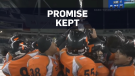 A Winnipeg high school football team has kept a promise to a murdered teammate by winning their first championship game in 38 years.