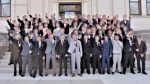 Photo appears to show boys giving 'Nazi salute'