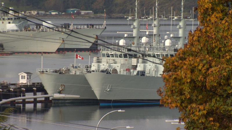 CFB Esquimalt, a naval base on Vancouver Island, is shown in this undated file photo.